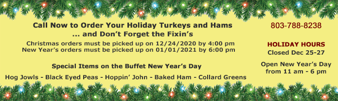 order your holiday turkeys and hams now